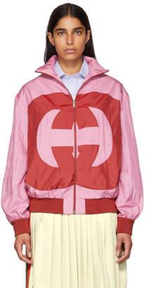 Gucci Pink GG Logo Track Jacket