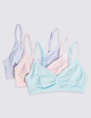 Marks and Spencer 3 Pack Seamfree Cropped Tops (6-16 Years)