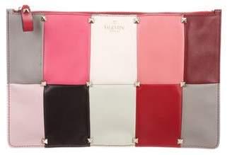 Valentino Rockstud Colorblock Clutch