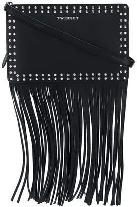 Twin-Set fringed studded shoulder bag