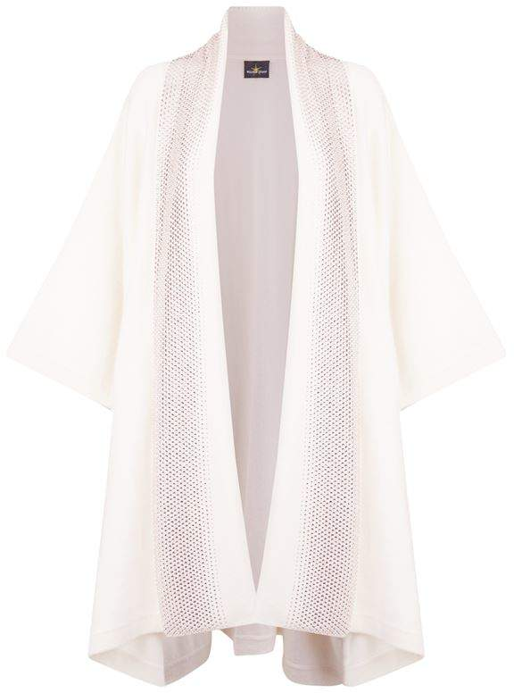 Embellished Oversized Shawl Cardigan