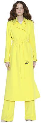 Alice + Olivia Rolanda Large Lapel Coat With Belt