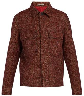 Bottega Veneta - Patch Pocket Wool Blend Tweed Jacket - Mens - Red