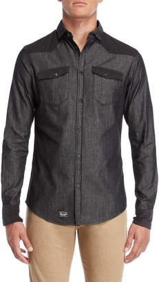 Armani Jeans Slim Fit Removable Collar Shirt