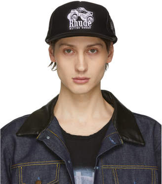 Rhude Black Malibu Derby Trucker Hat