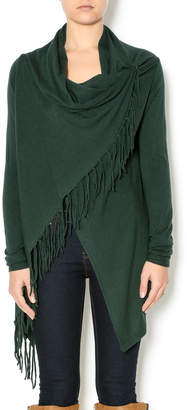 Lovestitch Asymmetrical Fringe Cardigan $62 thestylecure.com