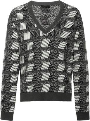 Prada jacquard V-neck sweater