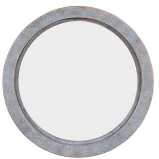 Danya B. Modern Industrial Floating Round 20-Inch Wall Mirror with Antiqued Copper Metal Frame - Contemporary Framed Hanging Mirror