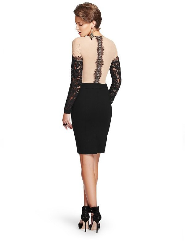 GUESS by Marciano Kellyn Lace & Ponte Dress