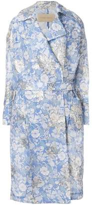 Christian Wijnants belted floral coat