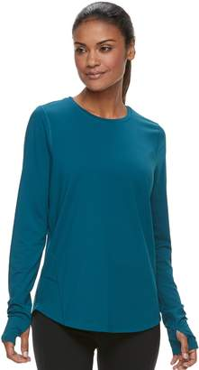 Tek Gear Women's Thumb Hole Long Sleeve Tee