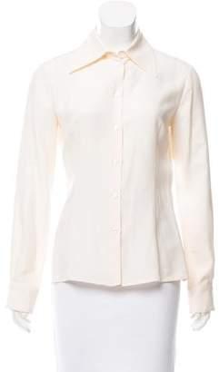 Michael Kors Silk Button-Up Top