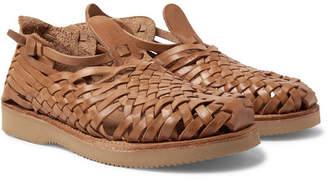 581e8391b594d Yuketen Cruz Woven Leather Huarache Sandals - Sand