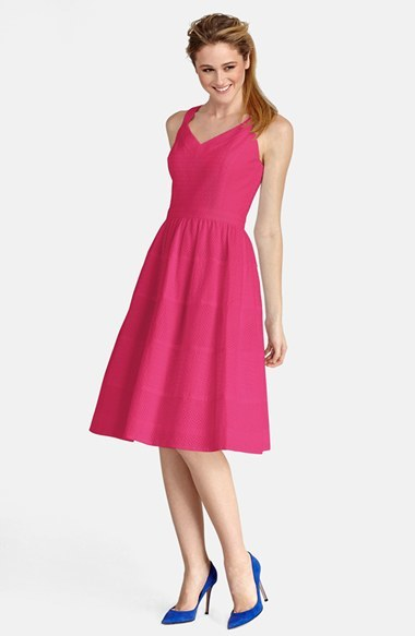 Donna Morgan Eyelet Cotton Fit & Flare Dress
