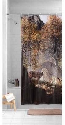"""Mainstays Wolf Design 4 Gauge PEVA Shower Curtain 70"""" x 72"""""""