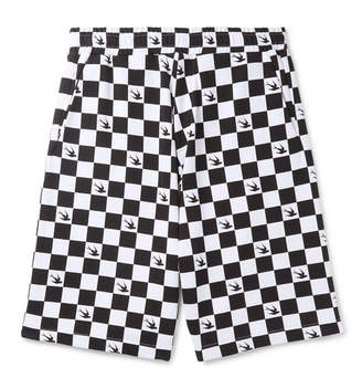 McQ Checkerboard Loopback Cotton-Jersey Shorts