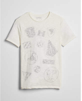 Express military patch graphic tee