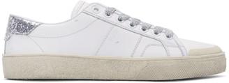 Saint Laurent Off-White Court Classic SL/37 Surf Sneakers $595 thestylecure.com