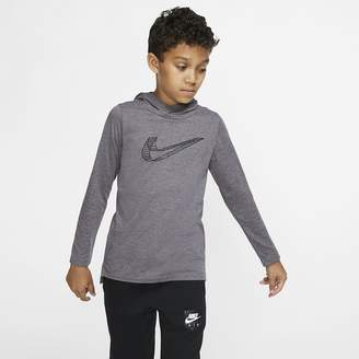 Nike Big Kids' (Boys') Long-Sleeve Hooded Training Top Breathe