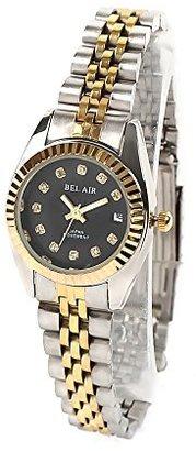 Bel Air [ベルエア Collection OSD33 ラインストーンインデックス 日付カレンダー付 レディース アナログ ウォッチ 腕時計 女性用