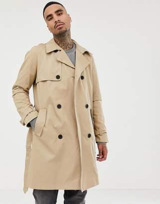 Bershka trench coat in beige