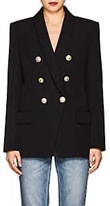 Balmain Women's Wool Canvas Double-Breasted Blazer - Black