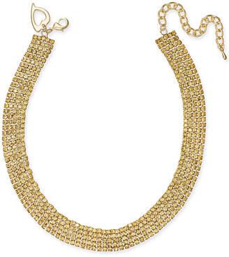 "Thalia Sodi Gold-Tone Rhinestone 13"" Choker Necklace"