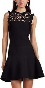 Valentino Women's Lace-Inset Fit & Flare Minidress - Black