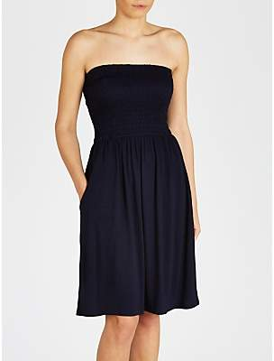 John Lewis & Partners Jersey Bandeau Dress, Navy