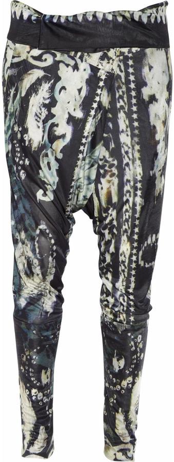 Balmain Printed satin-jersey harem pants