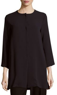 Max Mara Fucino Solid Long-Sleeve Top