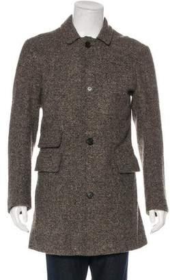 Billy Reid Tweed Overcoat