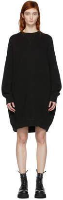 R 13 Black Grunge Sweatshirt Dress