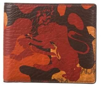 MCM Stark Camo Lion Wallet