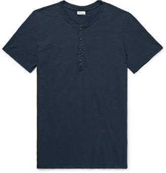 Schiesser Hanno Slub Cotton-Jersey Henley T-Shirt