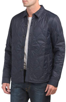 Insulated Quilted Shirt Jacket
