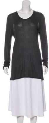 The Row Semi-Sheer Long Sleeve Top