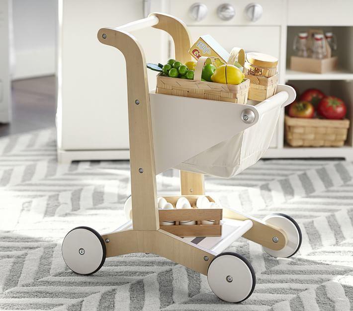 Pottery Barn Kids Wooden Shopping Cart