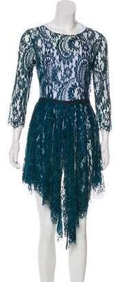 Lover Pleated Lace Dress