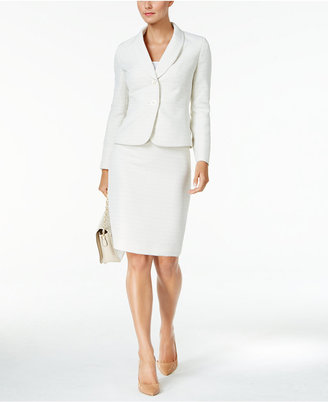 Le Suit Shawl-Collar Tweed Skirt Suit $200 thestylecure.com