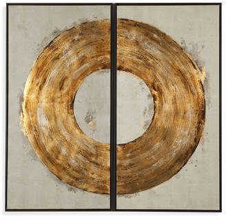 Bassett Mirror Thoroughly Modern 'Ring of Fire' Painting Print on Canvas