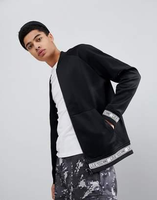 Love Moschino Rib Logo Zip Thru Sweater Jacket