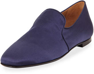 The Row Alys Satin Loafer Flat