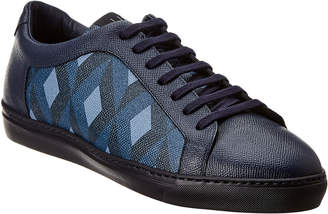 Dunhill Engine Turn Leather Sneaker
