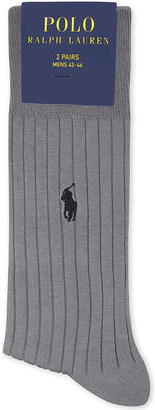 Polo Ralph Lauren Egyptian cotton ribbed socks pack of two $23.50 thestylecure.com