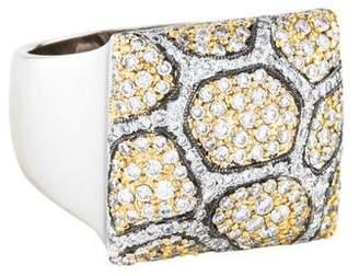 Sonia Bitton 18K Diamond Animal Print Ring
