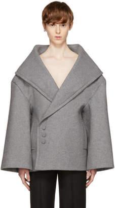 Jacquemus Grey Le Caban Short Coat