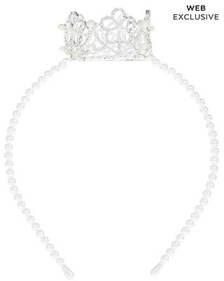 Monsoon Sparkle Pearl Crown Alice Hair Band