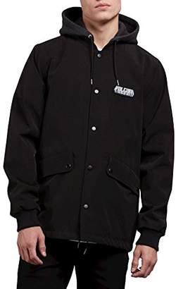 Volcom Men's Highstone Fleece Hooded Medium Weight Coach Jacket