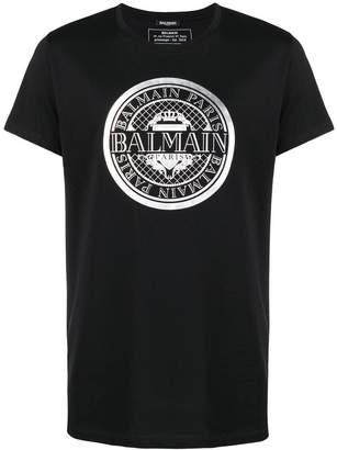 Pierre Balmain foiled logo print T-shirt